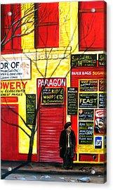 Bowery Acrylic Print by Leonardo Ruggieri