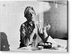 Bowie At Lunch  Acrylic Print by Terry O'Neill