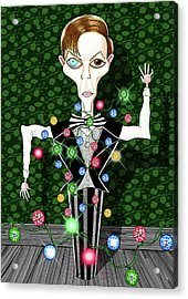Bowie Christmas Tree  Acrylic Print by Andrew Hitchen