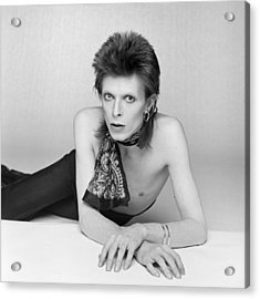 Bowie Diamond Dogs Shoot  Acrylic Print by Terry O'Neill