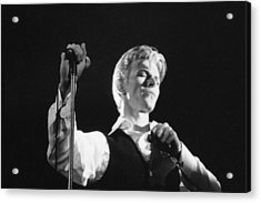 Bowie On Stage  Acrylic Print by Terry O'Neill