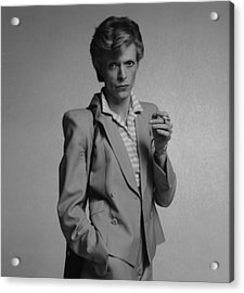 Bowie Yellow Suit  Acrylic Print by Terry O'Neill