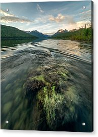 Sunset // Bowman Lake, Glacier National Park  Acrylic Print by Nicholas Parker