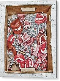 Box Of Dental Equipment Acrylic Print by Skip Nall