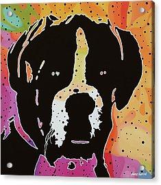 Boxer Acrylic Print by Nancy Aurand-Humpf