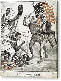 Boxer Rebellion Cartoon Acrylic Print by Granger