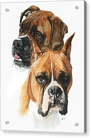 Boxers Acrylic Print by Barbara Keith