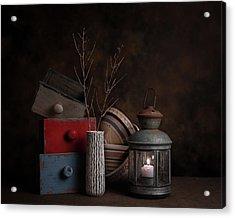 Boxes And Bowls Acrylic Print by Tom Mc Nemar