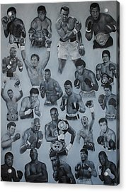 Boxing's Greatest Acrylic Print by David Dunne