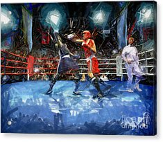 Boxing Night Acrylic Print by Murphy Elliott