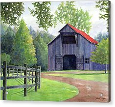 Boyd Mill Barn Acrylic Print by Janet King
