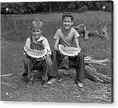 Boys Eating Watermelons, C.1940s Acrylic Print by H. Armstrong Roberts/ClassicStock
