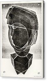Boy's Head Acrylic Print by Alex Kveton