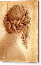 Braid Acrylic Print by H James Hoff