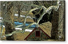Brandywine Springhouse Acrylic Print by Gordon Beck