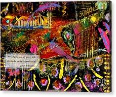 Brazilian Festival Acrylic Print by Angela L Walker