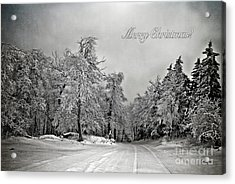 Break In The Storm Christmas Card Acrylic Print by Lois Bryan