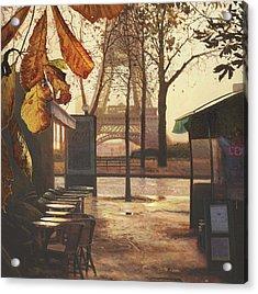 Breakfast In Paris Acrylic Print by Helen Parsley