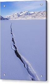 Breaking Ice Acrylic Print by Chad Dutson