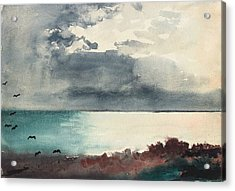 Breaking Storm Coast Of Maine Acrylic Print by Winslow Homer