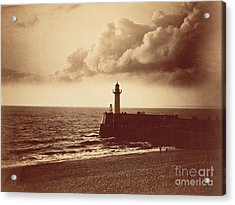 Breakwater At Sete Acrylic Print by Gustave Le Gray