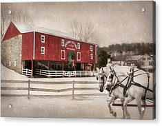 Breathin Easy Farm Acrylic Print by Lori Deiter