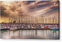 Breskens Marina Acrylic Print by Wim Lanclus