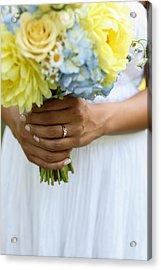 Brides Wedding Ring Acrylic Print by Gillham Studios