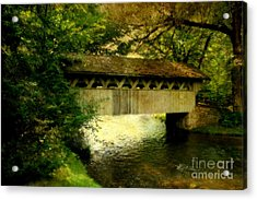 Acrylic Print featuring the photograph Bridge At Red Mill by Joel Witmeyer