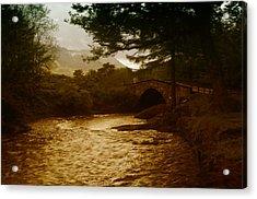 Bridge At The River Coe Acrylic Print by Mark Denham