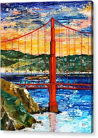 Bridge Acrylic Print by Fleur Spolidor