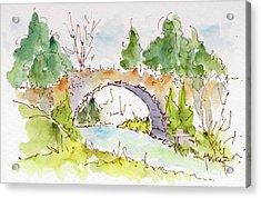 Bridge Over Spencer Creek Acrylic Print by Pat Katz