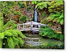 Bridge Over Still Water Acrylic Print by Az Jackson