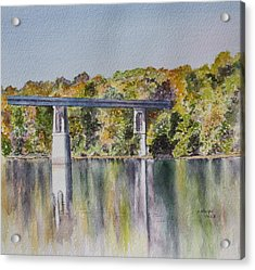 Bridge Over The Cumberland Acrylic Print by Patsy Sharpe