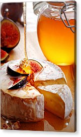Brie Cheese With Figs And Honey Acrylic Print by Johan Swanepoel