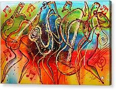 Bright Jazz Acrylic Print by Leon Zernitsky