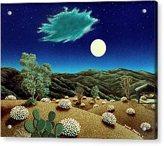 Bright Night Acrylic Print by Snake Jagger