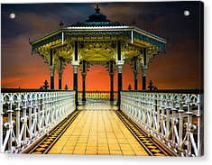 Brighton's Promenade Bandstand Acrylic Print by Chris Lord