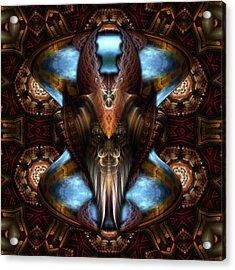 Brimitin Warrior Blue Destiny Acrylic Print by Xzendor7