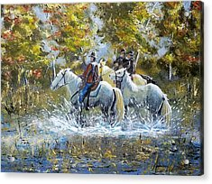 Bringing Home The Mare Acrylic Print by Anderson R Moore