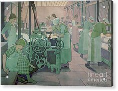 British Industries - Cotton Acrylic Print by Frederick Cayley Robinson