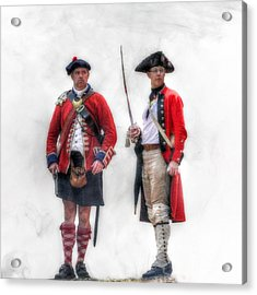 British Officer And Soldier Acrylic Print by Randy Steele