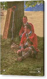 British Soldiers In Camp Acrylic Print by Randy Steele