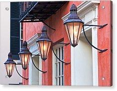 Broad Street Lantern - Charleston Sc  Acrylic Print by Drew Castelhano