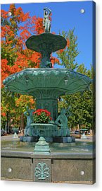Broadway Fountain II Acrylic Print by Steven Ainsworth