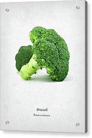Broccoli Acrylic Print by Mark Rogan