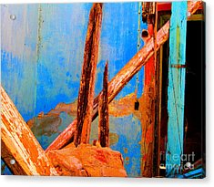Broken Beams By Michael Fitzpatrick Acrylic Print by Mexicolors Art Photography