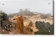 Broken Hill In Fog Acrylic Print by Joseph Smith