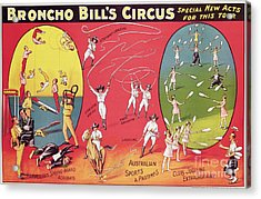 Bronco Bills Circus Acrylic Print by English School