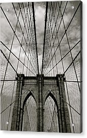 Brooklyn Bridge Acrylic Print by Adrian Hopkins